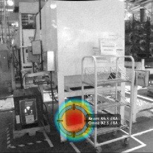 ruido equipo mechanico fabrica industrial