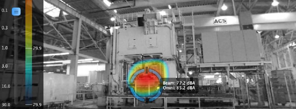 Cámara Acústica industrial ruido